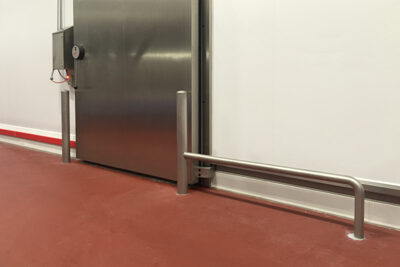 Extreme impact with stainless steel barrier and bollards