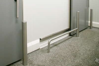 CleanRock OP30SF Sanicoat and stainless steel bollards & barriers